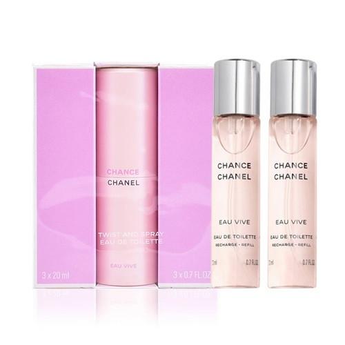Chanel Chance Eau Vive Twist & Spray 3 x 20ml eau de toilette spray
