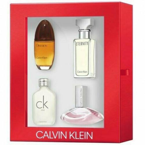 Calvin Klein Woman  Travel Miniature Set 4 pcs (Obession, Eternity, CK One, Euphoria)
