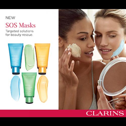 Clarins SOS Refreshing Hydrating Mask 75ml Masker