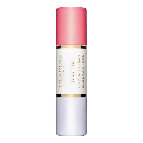 Clarins Glow-2-Go Stick  Blush & Highlighter 01 - Glowy Pink 2 x4,5gr