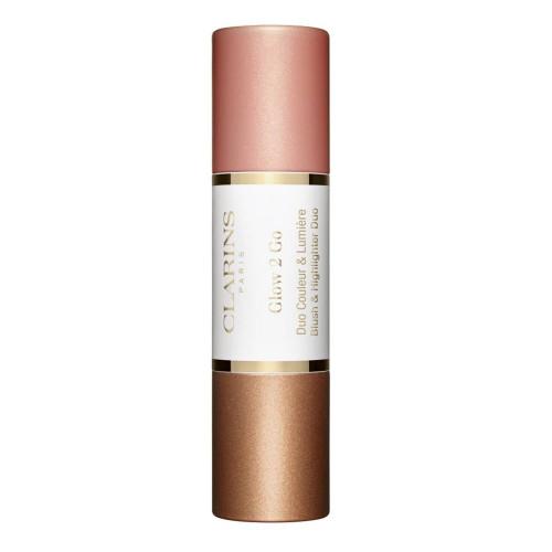 Clarins Glow-2-Go Stick  Blush & Highlighter 02 - Golden Peach 2 x4,5gr