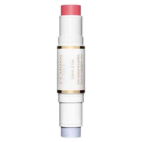 Clarins Glow-2-Go Stick  Blush & Highlighter  Nr. 01 - Glowy Pink 2 x4,5gr