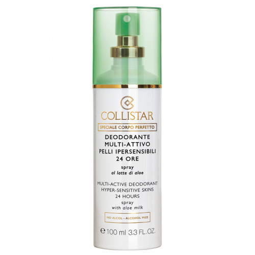 Collistar Multi-Active Deodorant Hyper-Sensitive Skins 24 Hours Spray 100ml (dames)