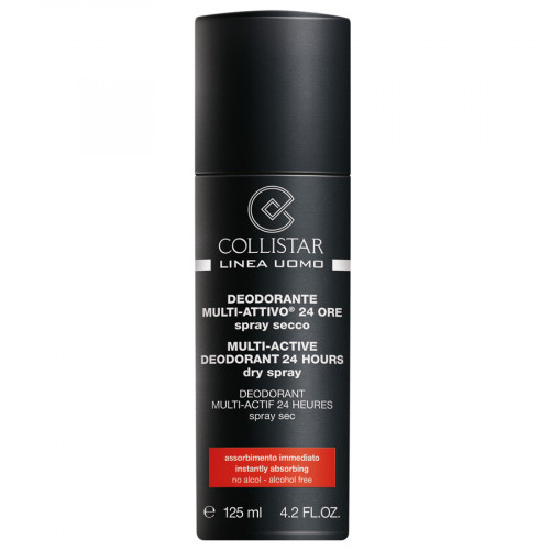 Collistar Men's Line Multi-Active Deodorant 24H Dry Spray 125ml
