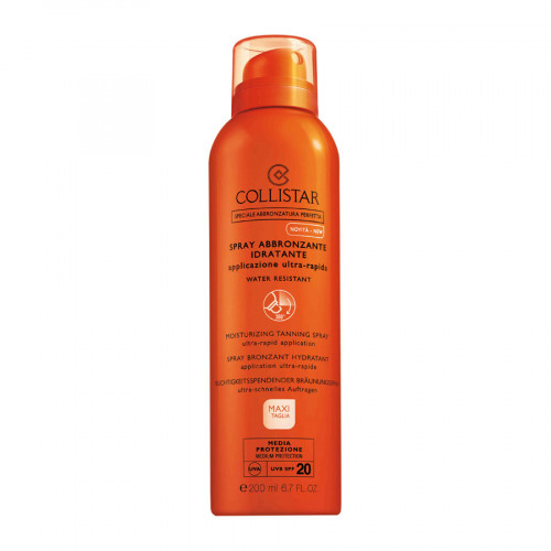 Collistar Moisturizing Tanning Spray SPF20 200ml Ultra-Rapid Application