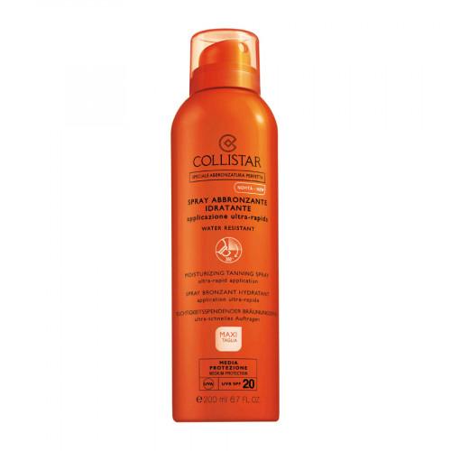 Collistar Moisturizing Tanning Spray SPF20 200ml Ultra-Rapid Application