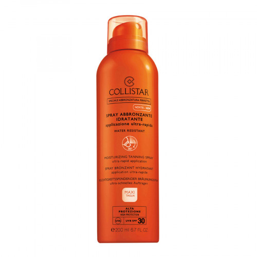 Collistar Moisturizing Tanning Spray SPF30 200ml Ultra-Rapid Application