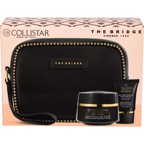 Collistar Sublime Black Precious Cream Set 50ml + Sublime Black Precious Mask 15ml + Tasje van het Italiaanse merk the Bridge