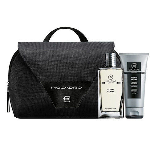 Collistar Acqua Attiva Set 50ml Eau de Toilette Spray + Acqua Attiva 100ml Showergel + Tas