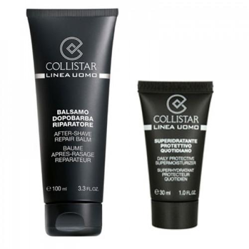Collistar Men's Line After Shave Repair Balm (met Aloe Vera) 100ml Aftershave Balsem + 30 ml Toning Showergel