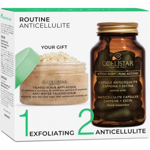 Collistar Routine Anticellulite set Anticellulite Capsules 14 st + Anti-Water Talasso-Scrub 150g