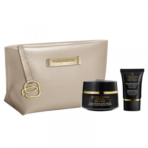 Collistar Sublime Black Precious Cream Set 50ml + Sublime Black Precious Mask 15ml + Tas