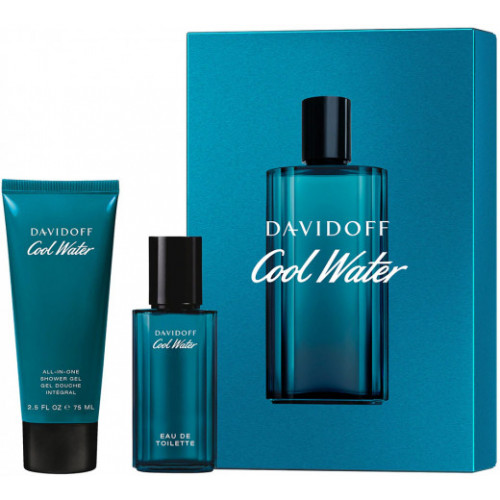 Davidoff Cool Water for Men Set 40ml eau de toilette spray +  75ml Showergel