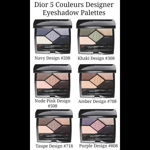 Dior 5 Couleurs Designer Eyeshadow No. 208 Navy Design