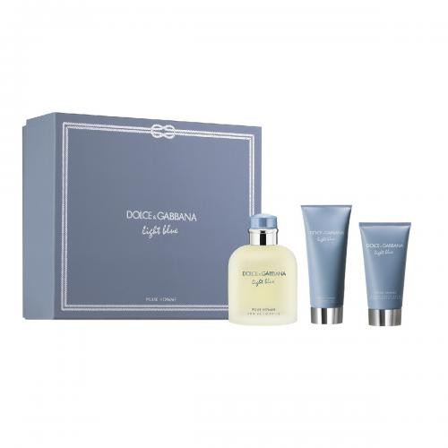 Dolce & Gabbana Light Blue Pour Homme set 125ml edt + 75ml Aftershave Balm + 50ml Showergel