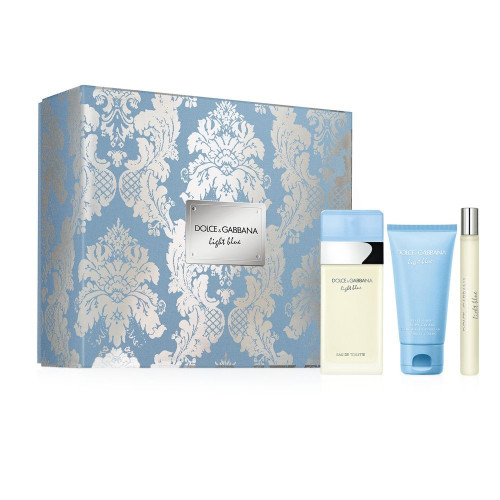 Dolce & Gabbana Light Blue Woman Set 100ml Eau de Toilette Spray + 50ml Body Cream + 10ml tasspray