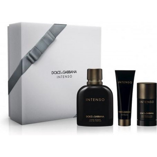 Dolce & Gabbana Pour Homme Intenso Set 125ml eau de parfum spray + 50ml Showergel + 70ml Deodorant Stick