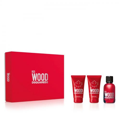 Dsquared² Red Wood set 50ml eau de toilette spray + 50ml Bodylotion + 50ml Showergel