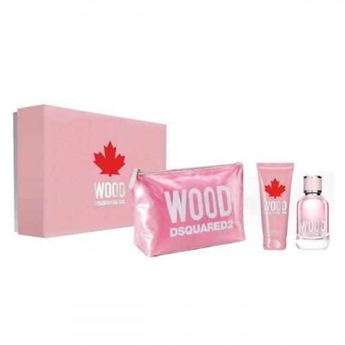 Dsquared²  Wood pour Femme Set 100ml eau de toilette spray + 100ml Bodylotion + tas