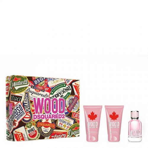 Dsquared² Wood pour Femme Set 50ml eau de toilette spray + 50ml Showergel + 50ml Bodylotion