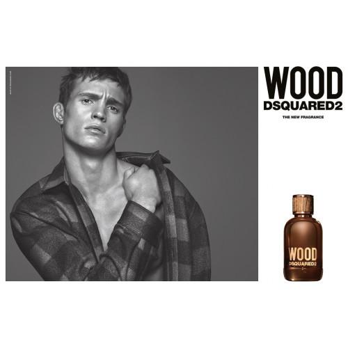 Dsquared² Wood pour Homme Set 100ml Eau de Toilette Spray + 100ml Showergel + Wallet