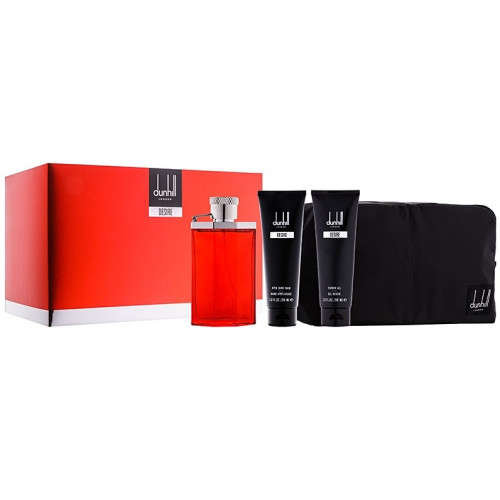 Dunhill Desire Red Set 100ml edt + 90ml Showergel + 90ml Aftershavebalm + Tas