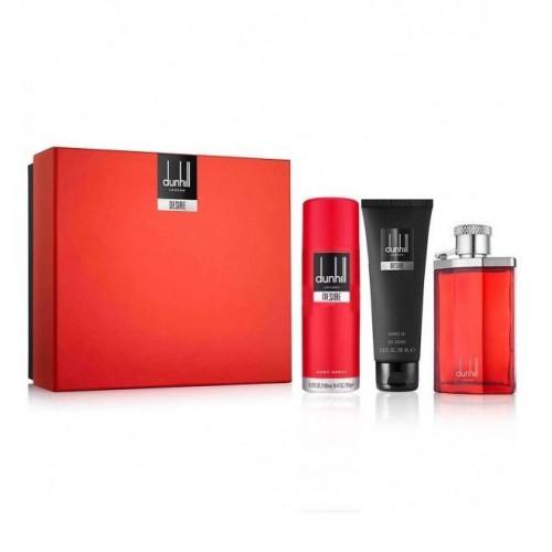 Dunhill Desire Red Set 100ml edt + 90ml Showergel + 195ml Bodyspray
