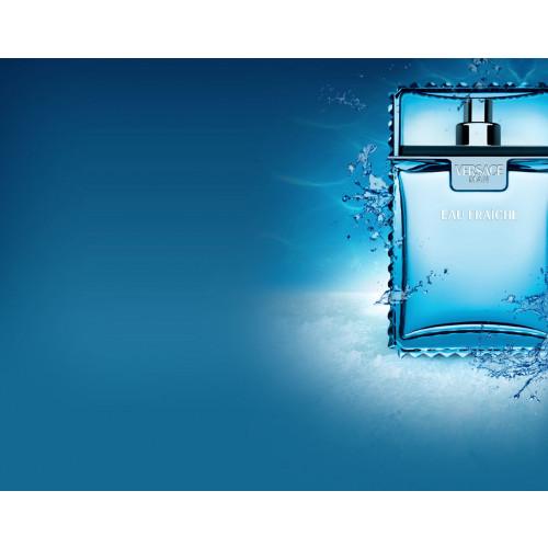 Versace Man Eau Fraiche Set 100ml eau de toilette spray + 150ml showergel + 10ml edt Miniatuur