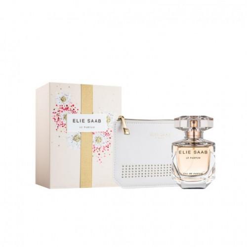 Elie Saab Le Parfum Set 50ml eau de parfum spray + Tas (wit)