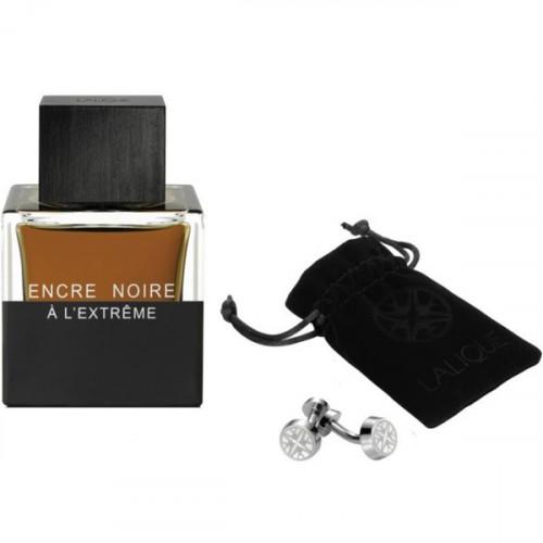 Lalique Encre Noire a L'extreme  + Manchetknopen 50ml eau de parfum spray