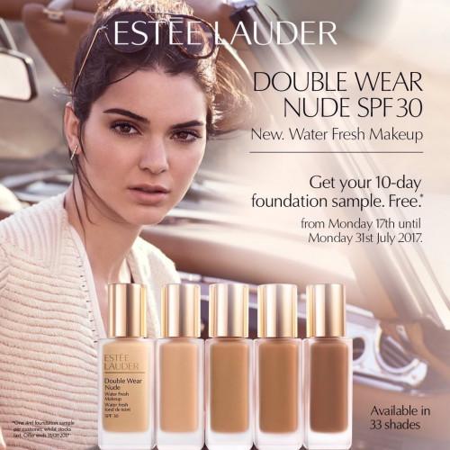 Estée Lauder Double Wear Nude Water Fresh 30ml Foundation 3C2 Pebble