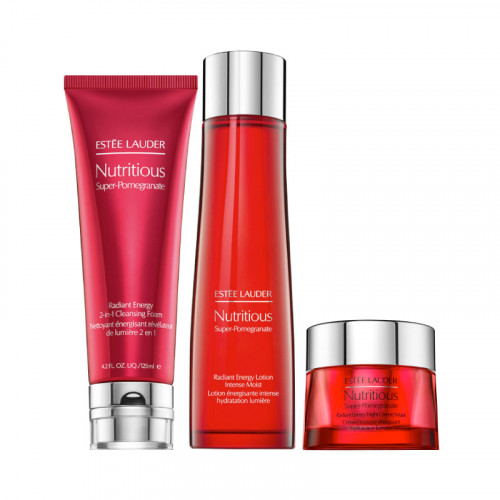 Estee Lauder Nutritious Super-Pomegranate Overnight Radiance Collection Set 3-Delig