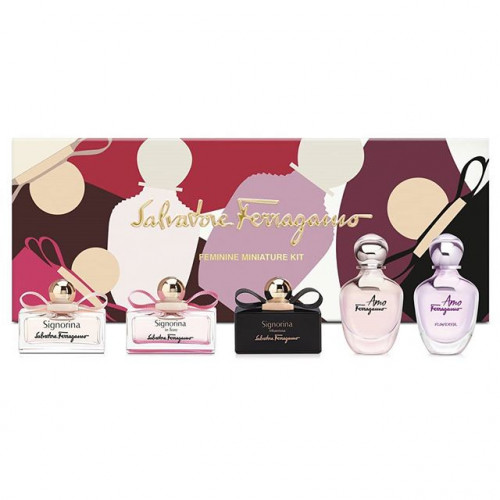 Salvatore Ferragamo miniaturen set Feminine Miniature Kit 5-delig