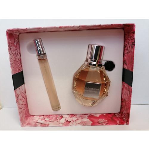 Viktor & Rolf Flowerbomb Set 50ml eau de parfum spray +  10ml edp tasspray