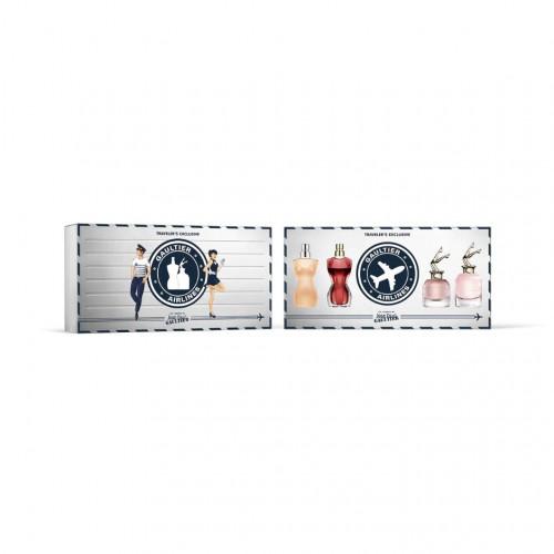 Jean Paul Gaultier Dames Miniaturen Set 4-delig (Classique, La Belle, Scandal, Scandal A Paris)