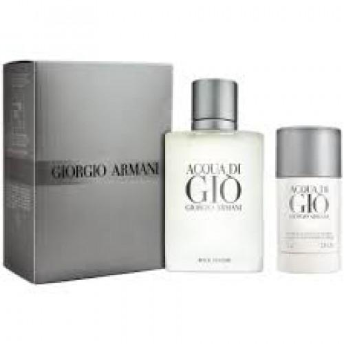 Giorgio Armani Acqua di Gio Homme Set 100ml eau de toilette spray + 75ml Deodorant Stick