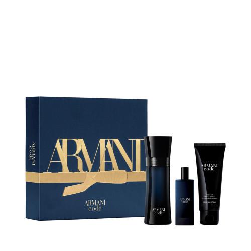 Giorgio Armani Code Homme Set 75ml edt + 75ml Showergel + 15ml edt Miniatuur