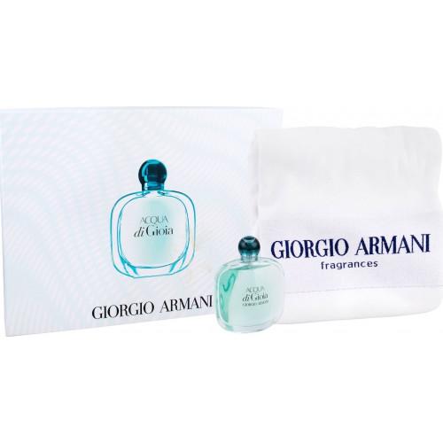 Armani Acqua di Gioia Set 100ml eau de parfum spray + handdoek
