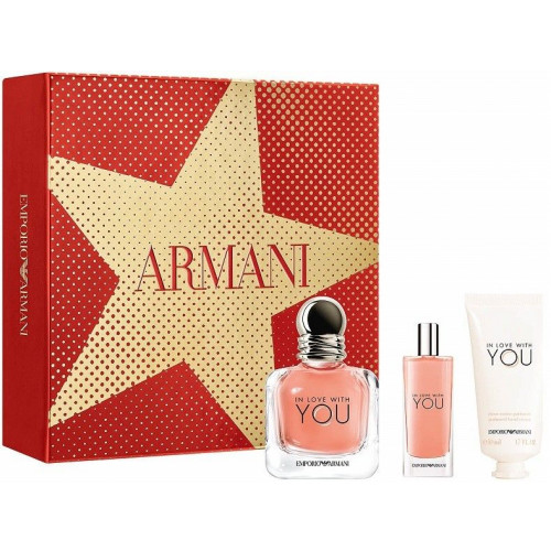 Giorgio Armani In Love With You set 50ml eau de parfum spray + 50 ml Handcreme + 15 ml Miniatuur