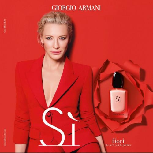 Giorgio Armani Si Fiori Set 50ml eau de parfum spray + 75ml Bodylotion + 7,5ml edp miniatuur