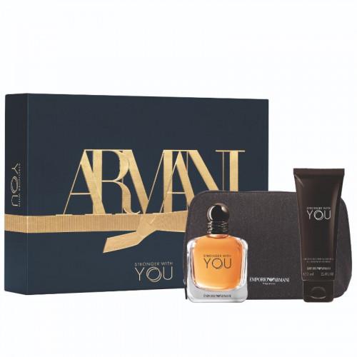 Giorgio Armani Stronger With You Set 50ml eau de toilette spray + 75 ml showergel + tas