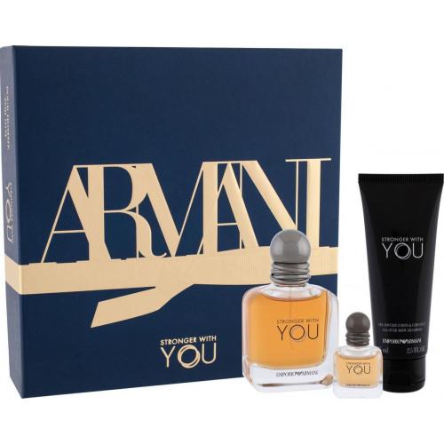 Giorgio Armani Stronger With You Set 50ml eau de toilette spray + 7ml edt Spray + 75 ml showergel