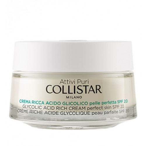Collistar Pure Actives Glycolic Acid Rich Cream Perfect Skin 50ml