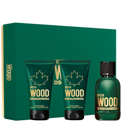 Dsquared² Green Wood set 50ml Eau de Toilette Spray + 50 ml Showergel + 50ml Aftershave Balm