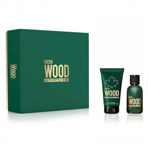 Dsquared² Green Wood set 100ml Eau de Toilette Spray + 150 ml Showergel