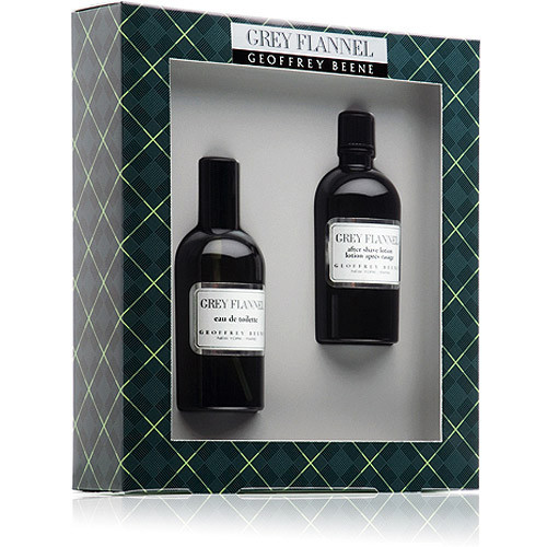 Geoffrey Beene Grey Flannel Set 120ml eau de toilette spray + 120ml Aftershave