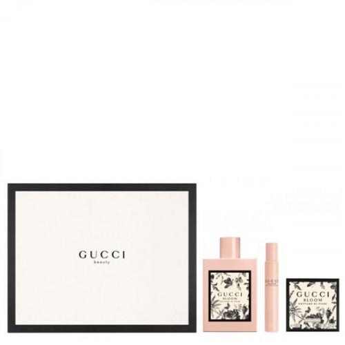 Gucci Bloom Nettare Di Fiore set 100ml eau de parfum spray + 100gr perfumed soap + 7,4 edp rollerball