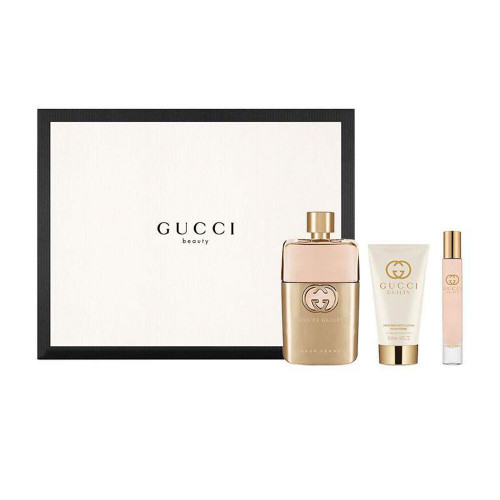 Gucci Guilty Set 90ml eau de parfum spray + 50ml Bodylotion + 15ml Tasspray