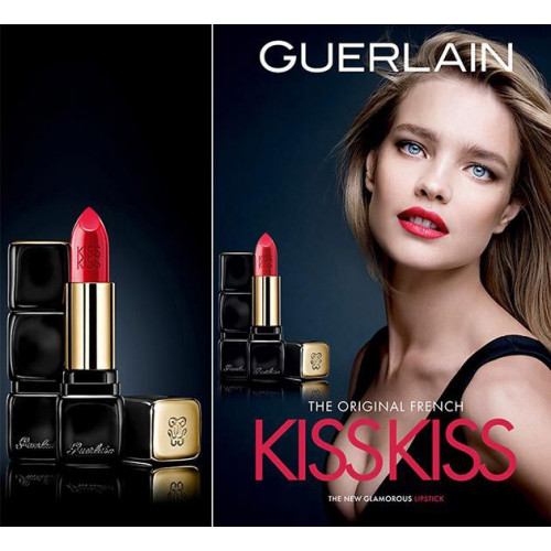 Guerlain Kisskiss Shaping Cream Lip Color 3,5 gram nr 373 Raspberry Kiss
