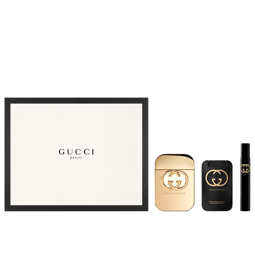 Gucci Guilty Woman Set 75ml eau de toilette spray  + 7,4ml edt + 100ml Bodylotion